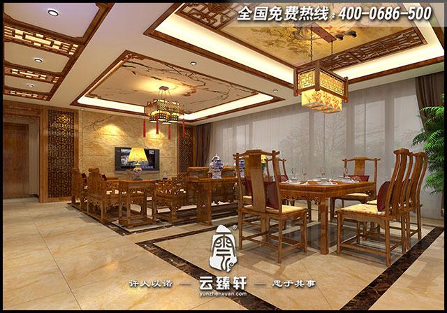 中式客餐厅设计效果图